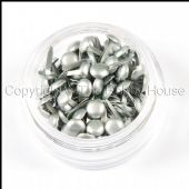The Hobby House Mini Round Brads - Pearlescent Silver - HHMB020